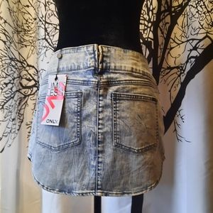 ONLY Jean skirt NWT